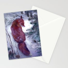 pensive fox Stationery Cards