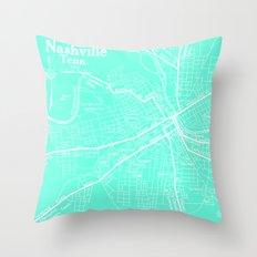 Vintage Nashville Turquois Throw Pillow