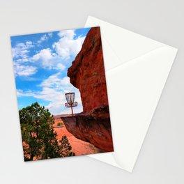 Disc Golf Basket in Moab Utah Stationery Cards