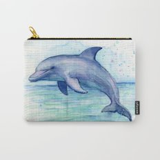 Dolphin Watercolor Sea Creature Animal Carry-All Pouch