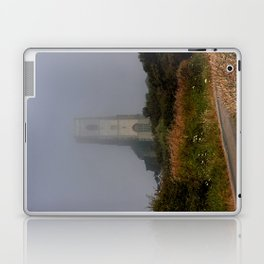 Ghostly Happisburgh church in a sea fret Laptop & iPad Skin