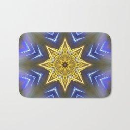 Glistening Golden Star Bath Mat