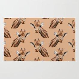 primitive African safari animal brown giraffe Rug