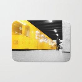 U-Bahn Berlin Selective Colour Bath Mat