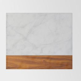 Marble and Wood 2 Throw Blanket