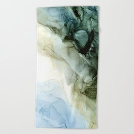 Land and Sky Abstract Landscape Painting Beach Towel