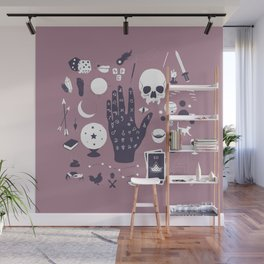 Methods of Divination - Purple Wall Mural