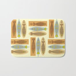 Fish In A Midcentury Modern Style Bath Mat