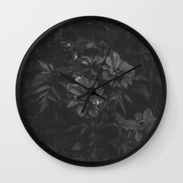 Floral (Black and White) Wall Clock