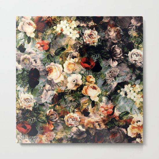 Floral Pattern RPE120 Metal Print