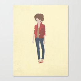 Red Jacket. Canvas Print