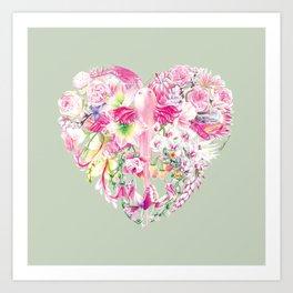 Blush Heart Art Print