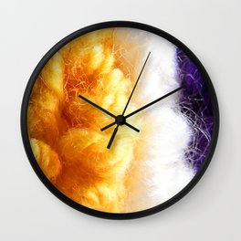 Cozy Knit Stripe Wall Clock
