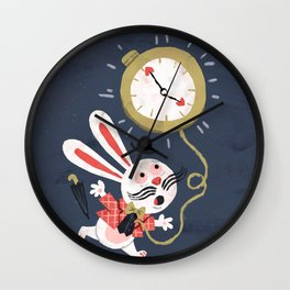 White Rabbit - Alice in Wonderland Wall Clock