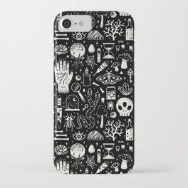 Curiosities: Bone Black iPhone Case