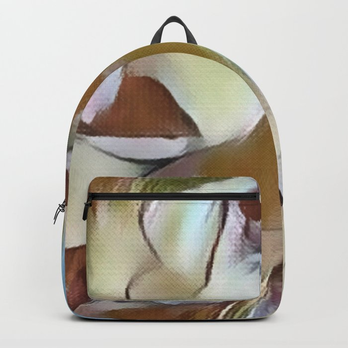 Heavenly Rose Petals Abstract - Taupe Backpack