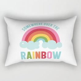Somewhere Over the Rainbow Rectangular Pillow