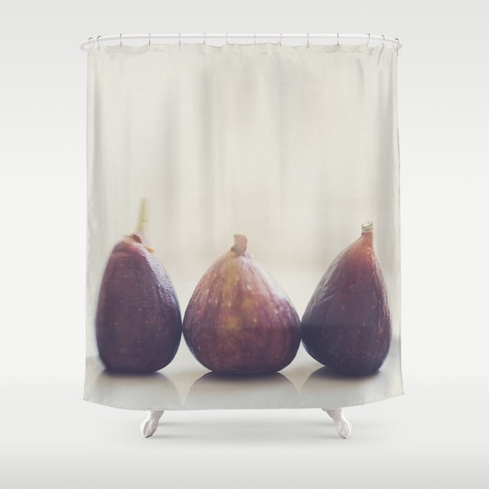 We 3 Figs Shower Curtain