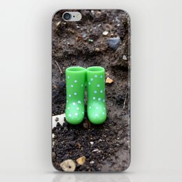 Wellies in the dirt iPhone Skin