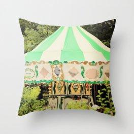Zoo Carousel Throw Pillow