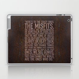 Here's to the crazy ones (Rust) by Brian Vegas Laptop & iPad Skin
