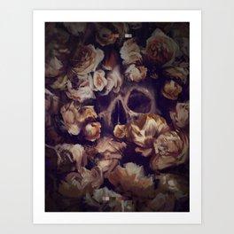 Flowers Grave -  Expresive Digital Oil Painting. Art Print