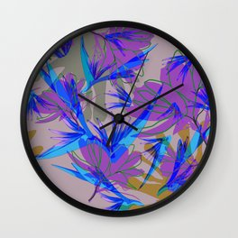 Bird of Paradise and Cosmos Wall Clock