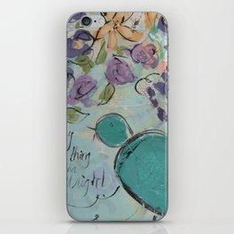 One blue bird iPhone Skin