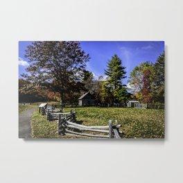 Fenced In Beauty in Virginia Metal Print