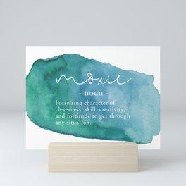 Moxie Definition - Blue Watercolor Mini Art Print