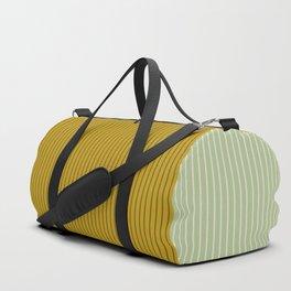 Color Block Lines XXI Moss Duffle Bag