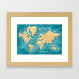 Map framed art prints society6 take me anywhere world map prints in sizes l xl only framed art print gumiabroncs Choice Image