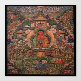 Buddha Amitabha in His Pure Land of Suvakti Canvas Print