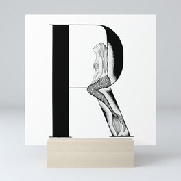 Mermaid Alphabet Series - R Mini Art Print