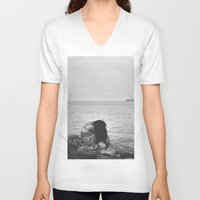 alone V-neck T-shirts featuring Alone  by PhotoStories