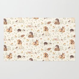 Meadow and Fawn Rug