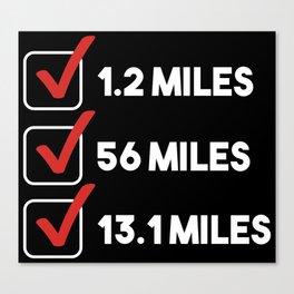 Triathlon Checklist Canvas Print
