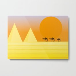 In the desert... Metal Print