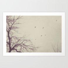 winter flight Art Print