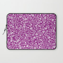 Purple white watercolor floral paisley illustration Laptop Sleeve