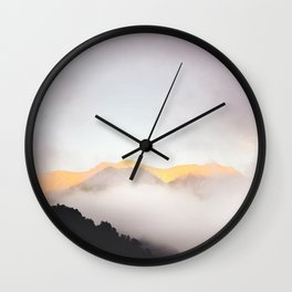 Pastel Mountains #photography Wall Clock
