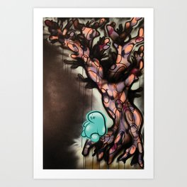 The Year 2020 When Trees Give Birth to People There Will be Balance and the Night Shall Sleep Again Art Print
