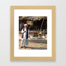 Rajastani Family Man  Framed Art Print
