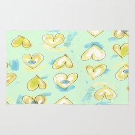 Lemon Drop Hearts Rug
