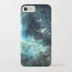 Teal Green Galaxy : Celestial Fireworks iPhone 8 Slim Case