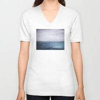 plain V-neck T-shirts featuring Plain Sailing by V. Sanderson / Chickens in the Trees