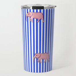 Strip and Elephants . Home Decor Travel Mug