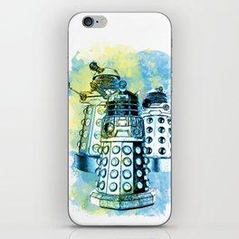 Dalek inspired mixed media watercolor iPhone Skin