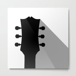 Guitar Headstock With Shadow Metal Print