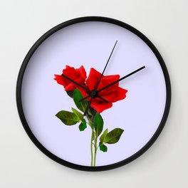 ROMANTIC RED ROSES ART Wall Clock